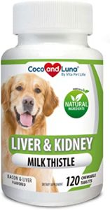 Coco and Luna Milk Thistle Liver, Kidney and Bladder Support for Dogs