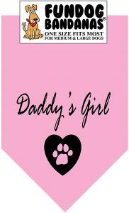 Daddy's Girl Fashion Printed Dog Bandana