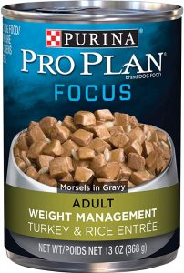 Purina Pro Plan Low Fat, Weight Management. Turkey & Rice Entree - 13 Oz. Can (12-Pack)