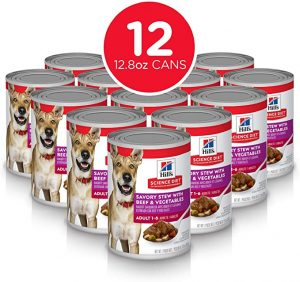 Hill's Science Diet Wet Dog Food, Adult, Savory Stew, 12.8 Oz, 12-Pack