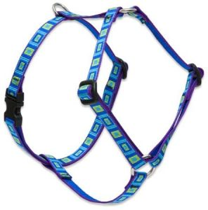 "Lupine 1/2"" Sea Glass Roman Harness for Small Dogs"
