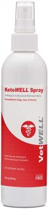 KetoWELL Chlorhexidine & Ketoconazole Antiseptic Medicated Spray for Dogs