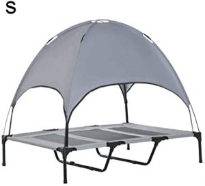 Sue-Supply Elevated Dog Cot Medium With Removable Canopy Raised Dog Pet Bed Tent Indoor Outdoor Bed Portable Camping Beach Travel Shade