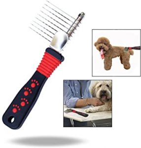 OFKPO Pet Dematting Comb, Detangling Matted, or Knotted Undercoat Hair Grooming Accessories Tool for Dog.