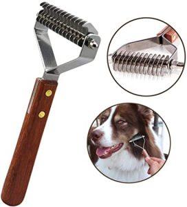 AIDIYA Coat King Rake 14-Blade Rake Pet Undercoat Rake ,Professional Pet Dematting Comb Grooming Stripping Tool for Dogs and Cats (8.8cm)