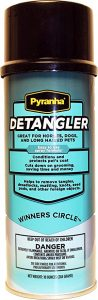 Pyranha 10 oz Dog Horse Pets Detangler Conditioner Spray Remove Tangles Burrs