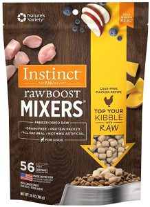 Instinct Freeze Dried Raw Boost Mixers Grain-Free Recipe All Natural Dog Food Toppers