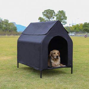 AmazonBasics Elevated Portable Pet House - Medium, Black