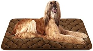 Hero Dog Bed Extra Large Washable Crate Mattress 47 Inch, Soft Non-Slip Pet Fleece Cushion Pad Coffee XL