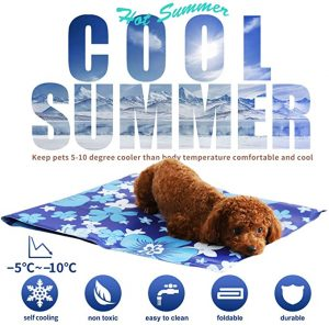 XIAPIA Dog Cooling Mat Large, Durable Pet Cool Mat Non-Toxic Cool Bed Ice Gel Cooling Pad, Great for Dogs Cats in Hot Summer, Ideal for Home & Travel & Cars