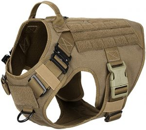 ICEFANG Tactical Dog Harness with 2X Metal Buckle