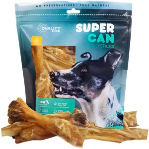 SUPER CAN BULLY STICKS Beef Tendon Chews for Dogs