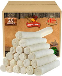 "Retriever roll 9-10"" (20 Pack) All Natural Rawhide"