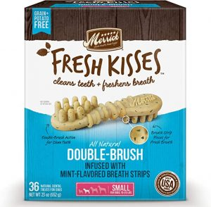Merrick Fresh Kisses Small Oral Care Dental Dog Treats