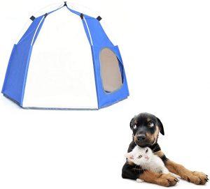 xiamenchangketongmaoyi Dog Shade Tent Dog Tent Indoor Dog House Waterproof Dog Tent Outdoor Cat House Cat Tents For Indoor Cats Dog Kennel Outdoor Dog House Dog Sun Shade blue
