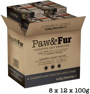 Paw&Fur - Premium Wet Dog Food, Adult Dogs - Gourmet Jelly Selection, 100g, 96-Pack