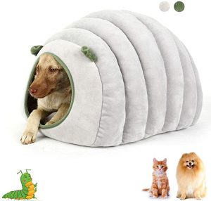Oncpcare Dog Cat Sleeping Sofa Bed with Mat, Winter Warm Fleece Puppy Pet House Bed, Small Pet Cave Bed Nest Tent for Small Dogs Cats Kitty Bunny Rabbit