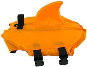 Animal Dog Life Jacket - Pet Float Vest Lifesaver Puppy Life Preserver Float Coat for Swimming with Adjustable Buckle Safety Blue Orange Multi-Size