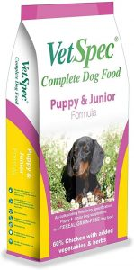 VetSpec Puppy & Junior Formula Complete Dog Food - 12kg