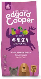 Edgard & Cooper Natural Dry Adult Dog Food - 7kg - Venison & Duck - Grain Free, Hypoallergenic & High Quality Protein