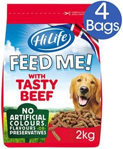 HiLife Feed Me! Dog Food Beef and Fresh Vegetables with Cheese, 8kg Value Box
