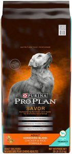 Purina Pro Plan with Probiotics Shredded Blend High Protein, Adult Dry Dog Food Chicken & Rice