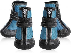 ECtENX Dog Shoes Running Hiking Boots - Rubber Anti-Slip Sneakers for Small to Large Dog