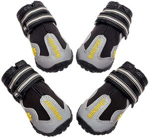 BINGPET Dog Boots Waterproof Shoes for Medium to Large Dogs