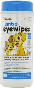 Petkin Jumbo Eye Wipes, Pack of 80