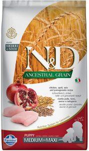 Farmina Natural & Delicious Chicken & Ancestral Low-Grain Puppy Formula