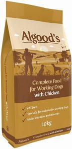 Algoods Working Dog Food Complete Dry Dog Food Chicken Flavour, 10 Kg
