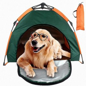 C&YL Premium Pet Tent With Carry Bag, Portable Folding Waterproof Sunscreen Outdoor Dog Kennel (79 x 77 x 62cm)
