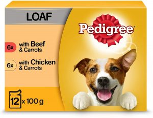 Pedigree Vital Protection - Wet Dog Food Pouches in Loaf with Beef and Chicken, 4 x 12 x 100 g