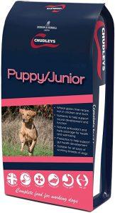 Chudleys Puppy Junior Hypoallergenic Dry Puppy Food - Rich in Chicken and Duck, 12 kg