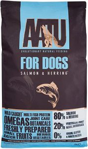 AATU 80/20 Dry Dog Food, Salmon, High Protein, Grain Free Recipe, No Artificial Ingredients, 10 kg