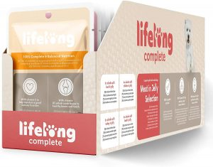 Lifelong Complete Food for Adult Dogs Meat In Jelly Selection, 24 x 100g