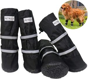 BESUNTEK Dog Boots Waterproof Shoes for Large Dogs