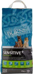 Burns Sensitive Complete Dry Adult and Senior Dog Food Pork and Potato, 2 kg