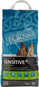 Burns Sensitive Complete Dry Adult and Senior Dog Food Pork and Potato, 2 kg
