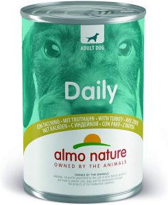 Almo Nature Dog Food Daily Menu with Turkey, Pack of 24 x 400g