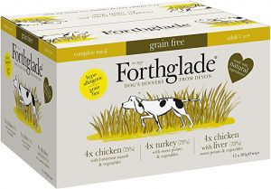 Forthglade Natural Grain Free Complete Wet Dog Food Poultry Variety 395 g (Pack of 12)