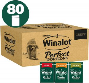 Winalot Perfect Portions Dog Food Meat Gravy, 80 x 100 g