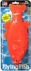 Ruff Dawg Flying Fish Floating Dog Toy Assorted Neon Colors