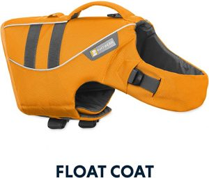 RUFFWEAR Life Jacket for Dogs, Medium Sized Breeds, Adjustable Fit, Size: Medium, Wave Orange, Float Coat