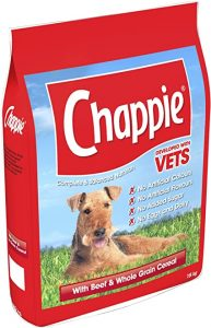 Chappie Complete Dry Dog Food for Adult Dogs with Beef and Wholegrain Cereal, 1 Bag (1 x 15 kg)