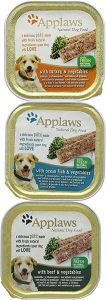 Applaws Natural Wet Dog Food, Pate Multipack with Turkey, Ocean Fish and Beef with Vegetables in 150 g Trays (Pack of 5)