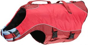 Kurgo Dog Life Jacket, Surf n' Turf, Reflective - Red, Medium (M)
