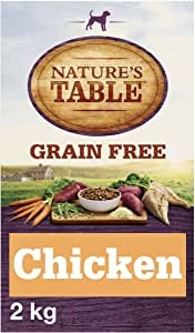 NATURE'S TABLE Dry Dog Food Grain Free for Adult Dogs 1+ Wholesome Chicken with Sweet Potato and Vegetables, 1 Bag (1 x 2 kg)