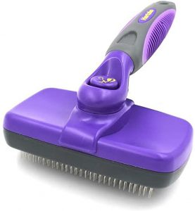 Hertzko Self-Cleaning Dog & Cat Slicker Brush