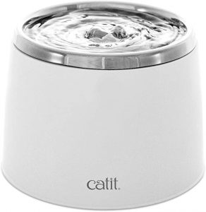 Catit Fresh and Clear Stainless Steel Fountain, White